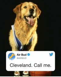 Cavs, Memes, and Air Bud: Air Bud  @AIRBUD  Cleveland. Call me your move @cavs