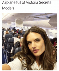 Lightest plane ever..and easy job for service. One salad will feed them all.: Airplane full of Victoria Secrets  Models Lightest plane ever..and easy job for service. One salad will feed them all.