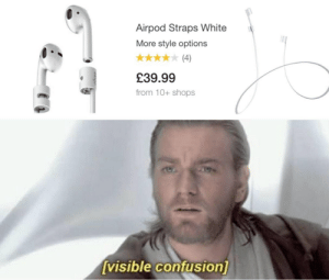 Airpod Straps: Airpod Straps White  More style options  (4)  £39.99  from 10+ shops  [visible confusion]