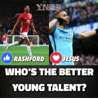 Best striker out of these two ?: AIRWAY  RASHFORDJ  WHO'S THE BETTER  YOUNG TALENT? Best striker out of these two ?