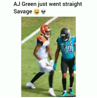 Funny, Savage, and Aj Green: AJ Green just went straight  Savage  20 AJGreen slammed him like he was a toy 😂😂 HoodClips