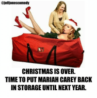"""Cause """"all I want for xmas"""" is not to hear it for another 11 months.....: ajefijonescomedy  CHRISTMAS IS OVER.  TIME TO PUT MARIAH CAREY BACK  IN STORAGE UNTIL NEXT YEAR. Cause """"all I want for xmas"""" is not to hear it for another 11 months....."""