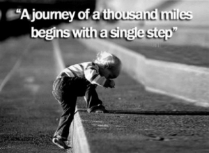 """""""A journey of a thousand miles begins with a single step"""": Ajourney of a thousand miles  begins with a single step"""" """"A journey of a thousand miles begins with a single step"""""""