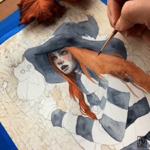 ajramseyart:  autumn witch wip. I wasnt sure if I should post this but I figured some of you might like seeing this. Do you like seeing wips like this?: ajramseyart:  autumn witch wip. I wasnt sure if I should post this but I figured some of you might like seeing this. Do you like seeing wips like this?