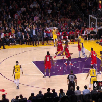 Dunk, Los Angeles Lakers, and LeBron James: AKERS  48 The Lakers erased a 19-point deficit to beat the Rockets, 111-106.  All five LAL starters scored in double figures.  Brandon Ingram finished with 27 points and 13 rebounds.   LeBron James dropped 29, 11, 6 and this big time dunk.  https://t.co/xok3hbnpn2