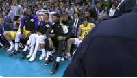 Lakers bench celebrates Zo and Bron getting a triple-double in the same game 🔥: AKERS  ER Lakers bench celebrates Zo and Bron getting a triple-double in the same game 🔥