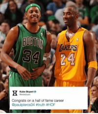 AKERS  Kobe Bryant  akobebryant  Congrats on a hall of fame career  @paulpierce34 t truth HOF #RockoMamba24 #WWLG4L