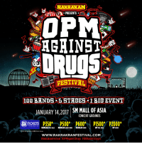 Drugs, Facebook, and Friends: AKRAKAN  PRESENTS.  OPM  AGAINST  DRUgs  100 BHNDS 5 STAGES l BIG EVENT  JANUARY 14.2017 SM MALL OF ASIA  CONCERT GROUNDS  TICKETS P500* P600  P1500' P2000  REGULAR PRE-SALE REGULAR EARLY BIRD REGULAR DOOR  VIP PRE-SALE  VIP DOOR  Change  WWW RAKRAKRANFESTIVAL.COM  ERakrakranFestival Rakrakan Presents: OPM Against Drugs! 100 Bands, 5 Stages, 1 Big Event + Art + Skate + Merch Exhibits  PRE-SALE Regular and VIP Tickets* are NOW AVAILABLE at all SM Tickets Outlets NATIONWIDE! Limited tickets ONLY! BUY NOW before pre-sale tickets run out! VIP tickets also come with tons of freebies + Meet & Greet!  REGULAR PRE-SALE: P350 REGULAR EARLY-BIRD: P500 REGULAR DOOR: P600 VIP PRE-SALE: P1500  VIP DOOR: P2000 *Prices are exclusive of SM Tickets charge  You can also buy online via https://smtickets.com/events/view/5021. For ticket inquiries call 470-2222  MOVE STAGE INDIE STAGE MOSH STAGE SLAM STAGE  GROOVE STAGE (Bands To be Announced)  For updates, follow our Facebook RAKISTA and Rakrakan Festival or visit our website: www.rakrakanfestival.com.  For sponsorship, send us a message via facebook or website rakrakanfestival.com  RSVP: Rakrakan Festival : OPM Against Drugs  #RakrakanFestival #OPMAgainstDrugs #100Bands5Stages  Share and Invite Friends!