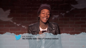 Homeless, Wiz Khalifa, and Imgur: @Al RamBro  Wiz Khalifa looks like a homeless woman. Truer words were never spoken! (i.imgur.com)