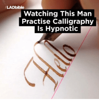 This is so satisfying to watch 😍: ALADbible  Watching This Man  Practise Calligraphy  Is Hypnotic This is so satisfying to watch 😍