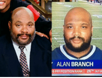 Uncle Phil plays for the Patriots?: ALAN BRANCH  6 PFF POSITION RANK 26TH OUTO Uncle Phil plays for the Patriots?