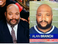 Memes, Patriotic, and Uncle Phil: ALAN BRANCH  6 PFF POSITION RANK 26TH OUTO Uncle Phil plays on the Patriots. 😂😂😂 https://t.co/N7NK9Kh3wb