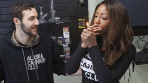 Club, Alaska, and Colorado: ALASKA  CA NAIS  AN  CI The Anchor Who Risked it all by quitting her Job on Live Television is Shown Lighting Up a Joint Today in Her Alaskan Cannabis Club!As The State of Alaska Officially Joins Colorado and Washington for Recreational Use of Marijuana! Today Tuesday, February 24th, 2015.