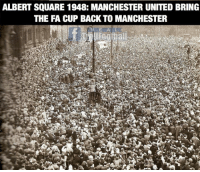 This is MUFC  💪..Tag a Manchester United FAN: ALBERT SQUARE 1948: MANCHESTER UNITED BRING  THE FA CUP BACK TO MANCHESTER This is MUFC  💪..Tag a Manchester United FAN