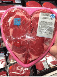twerktuesday:   twerktuesday:  The only valentine I need  I took a photo of a fucking steak in the store and put it on the internet and now almost 16 thousand people have it on their blogs, I wonder whoever has this steak knows how famous it is. I bet this cow is in cow heaven wearing sunglasses and shunning the other cows because now a piece of his fucking body is on 16 thousand people's blogs. I need to sit down for a minute. : Albertsons  CHOICE BEEF RIBEYE STEAKTo  LIPON BONELESS FAMILY PACK  PRODUCT OF USs  ING IN  URS PRE PARED FROM INSPECTED AND  BACTERIA THAT COULD CAUSE ILLNESS IF THE  THIS PRODUCT  T AND/OR POULTRY, SOME FOOD PRODUCTS  Y CONTRIN  PRODUCT IS MISHANDLED OR COOKEDI  YOUR PROTECTION, FOLLOUW THESE SAFE  HANDLING  EP REFRIGERRTED OR FROZEN.  A IN REFRIGERATOR ORHU  mine  FROM  (INCLUDING CUTTİNG BORP.si.UTENSILS. AND  HANDS AFTER TOUCHING P W MEAT OR POULTRY  014  Feb 16, 14  2.38 lb 7.99/b$19.02 twerktuesday:   twerktuesday:  The only valentine I need  I took a photo of a fucking steak in the store and put it on the internet and now almost 16 thousand people have it on their blogs, I wonder whoever has this steak knows how famous it is. I bet this cow is in cow heaven wearing sunglasses and shunning the other cows because now a piece of his fucking body is on 16 thousand people's blogs. I need to sit down for a minute.