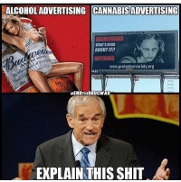 "Smh😤: ALCOHOLADVERTISING CANNABISADVERTISING  MARIJUANA  WHATS GOOD  ABOUT IT?  BEEt  NOTHING  www.prote ""nursociety.org  25  HENDTHEDRUCWAR  EXPLAIN THIS SHIT Smh😤"