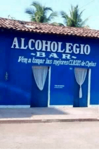 Bar, Ven, and Embedded: ALCOHOLEGIO  BAR  Ven a tomar las megjores CLASES de Chelas Embedded