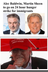 24 Hour: Alec Baldwin, Martin Sheen  to go on 24 hour hunger  strike for immigrants  AMERICA  ATAGAIN