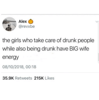 Lmaoo 😌😌😌😂😂 🔥 Follow Us 👉 @latinoswithattitude 🔥 latinosbelike latinasbelike latinoproblems mexicansbelike mexican mexicanproblems hispanicsbelike hispanic hispanicproblems latina latinas latino latinos hispanicsbelike: Alex C  SİV @revxbe  the girls who take care of drunk people  while also being drunk have BIG wife  energy  08/10/2018, 00:18  35.9K Retweets 215K Likes Lmaoo 😌😌😌😂😂 🔥 Follow Us 👉 @latinoswithattitude 🔥 latinosbelike latinasbelike latinoproblems mexicansbelike mexican mexicanproblems hispanicsbelike hispanic hispanicproblems latina latinas latino latinos hispanicsbelike