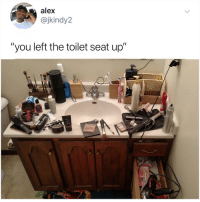 "Memes, 🤖, and Alex: alex  @jkindy2  ""'you left the toilet seat up  ""you left Post 1829: DM this to everyone and tell them to follow @kalesalad we are trying to hit 3 million subs before 2019"