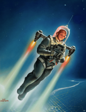Tumblr, Blog, and Http: ALEX  SCHOMBURG scifiseries:  1953 Personal air-space travel rig, Schomberg