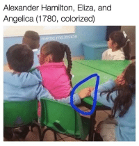 Meme, Memes, and Alexander Hamilton: Alexander Hamilton, Eliza, and  Angelica (1780, colorized)  meme me inside 1780 a winter's ball...
