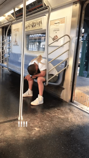 alexander:  This is literally just another day on the subway in NYC, like legit you see some real shit when you're on your way to hangover brunch on sunday and there is still drunk people on the train like it gets wild: alexander:  This is literally just another day on the subway in NYC, like legit you see some real shit when you're on your way to hangover brunch on sunday and there is still drunk people on the train like it gets wild