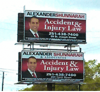 """The """"Welcome to Alabama Starter Pack"""": ALEXANDERSHUNNARAH  Accidents  Injury Law  251-438-7400  Streat  ALEXANDER SHUNNARAH  & ASSOCIATES  Accident  Injury Law  204 Conti St Pe t The """"Welcome to Alabama Starter Pack"""""""