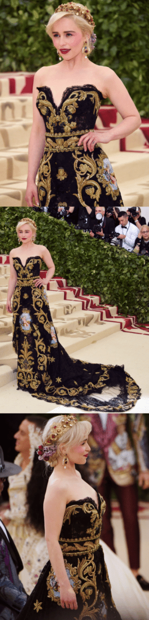 Bodies , Fashion, and New York: alexdaddario:EMILIA CLARKE@ the Heavenly Bodies: Fashion  The Catholic Imagination Costume Institute Gala at The Metropolitan Museum of Art | May 7, 2018 in New York City