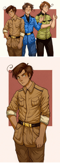 Target, Tumblr, and Blog: alexia-h2o:The Italian brothers cause I wanted to try the cel coloring style (and a close-up of Romano because I kinda like how he turned out)