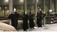 9gag, Ali, and Memes: ali ilii Just a bunch of no face performing the theme song of Totoro. 🎶Follow @9gag App📲👉@9gagmobile 👈 - - - 📹Aromaharu3 | Twitter 9gag hayaomiyazaki noface spiritedaway myneighbortotoro trombone swinggirls studioghibli