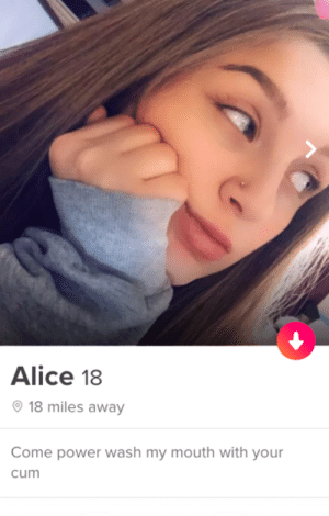 nice: Alice 18  18 miles away  Come power wash my mouth with your  cum nice