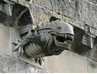 Church, Alien, and Scotland: Alien Gargoyle added to Paisley Abbey, a 12th Century church in Scotland