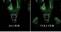 Out of this world.: ALIEN  ITALIEN Out of this world.