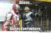 Aliens...  Aliens Everywhere.  Maneoenter  memecenter-com Who has the best power suit?