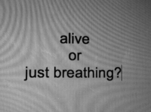 Or Just: alive  or  just breathing?