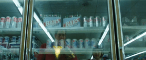 "A subtle nod to the swedish director of Shazam!, David F. Sandberg, can be seen in this scene where the top cases says ""bärs"" which is swedish slang for beer.: ALKEE  AUKE  BARS  BÄRS  TAGER  LAGER  LD  UKEE A subtle nod to the swedish director of Shazam!, David F. Sandberg, can be seen in this scene where the top cases says ""bärs"" which is swedish slang for beer."