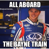 Choo Choo!! 🚂🚂 Bayne is back in the sprint cup series full time in 2015 in the 6 car! Hey eutechnyx and nascar 14, u just predicted the future! The 6 is actually in the game driven by Bayne. Wow. nascar racing race trevorbayne bayne roush roushfenwayracing rfrdriven hesback lookout lol nascarmemes likeitup follow followme: ALL ABOARD  @nascar memes  Card  GOOD YEAR  AD  THE BAYNE TRAIN  Make a Choo Choo!! 🚂🚂 Bayne is back in the sprint cup series full time in 2015 in the 6 car! Hey eutechnyx and nascar 14, u just predicted the future! The 6 is actually in the game driven by Bayne. Wow. nascar racing race trevorbayne bayne roush roushfenwayracing rfrdriven hesback lookout lol nascarmemes likeitup follow followme