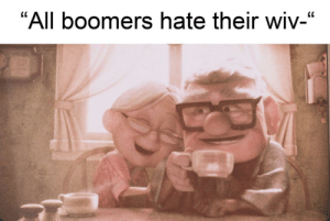 "A shining light in the darkness: ""All boomers hate their wiv-"" A shining light in the darkness"