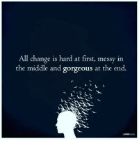 The Mind Unleashed: All change is hard at first, messy in  the middle and gorgeous at the end  THE MIND  UNLEASHED