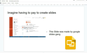 Google slides Gang: All changes saved in Drive  ols  Add-ons  Help  Layout  Background  Theme  Transition  25  15  16  22  23  24  I 17 I  19  i 20  2.  10  11  12  13  14  18  21  Imagine having to pay to create slides  Account  User information  Product information  O Office  ER rans kagho  Change phata  Trial Product  Mnort Office huleaotal 2016  Gtt  Thapat e  Shae  Office Background  Menet Peedet  e ng te t er  Office Theme  Sentim n oo  Cauta  Connected Services  I lacetook  Abaut PowerPoint Preview  This Slide was made by google  slides gang  Oneriee ersonal  dai cam  * Tutter  er  hevi  Mage  A Vutube  ... Google slides Gang