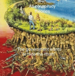 Conspiracy, Government, and Truth: All conspiracy  theories  The government wants  to hide the truth me_irl