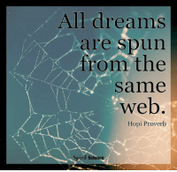 We are all connected within the web of life!: All dreams  re spun  from the  same  web  0 300 o  Hopi Proverb  piri Science We are all connected within the web of life!