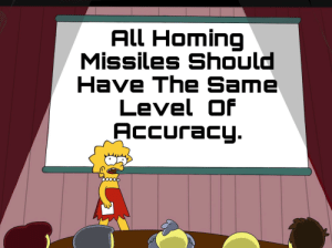 Why does a flying motorcycle have more accurate missiles than fighter jets and attack helicopters?: All Homing  Missiles Should  Have The Same  Level Of  Accuracy. Why does a flying motorcycle have more accurate missiles than fighter jets and attack helicopters?
