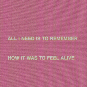 Alive, How, and All: ALL I NEED IS TO REMEMBER  HOW IT WAS TO FEEL ALIVE