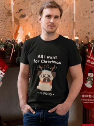 cool-shirts:  All I Want For Christmas Is Food  : All I want  for Christmas  ##  IS FOOD cool-shirts:  All I Want For Christmas Is Food