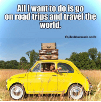 Moon Moon Wolf: All I want to do is go  on road trips and travel the  World  fb/david avocado wolfe
