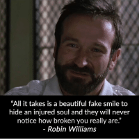 """If you've ever wanted to make your ex CRAVE to have you back, then you NEED to watch this video right now : http://bit.ly/zchance2nd: """"All it takes is a beautiful fake smile to  hide an injured soul and they will never  notice how broken you really are.""""  Robin Williams If you've ever wanted to make your ex CRAVE to have you back, then you NEED to watch this video right now : http://bit.ly/zchance2nd"""