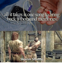 0takusharkguy:DID YOU JUST TRY TO TICKLE ME?!: all it takes is one song to bring  back a thousand memories.  Skyrim Shuffle 0takusharkguy:DID YOU JUST TRY TO TICKLE ME?!
