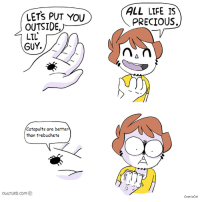 "Life, Meme, and Precious: ALL LIFE IS  PRECIOUS.  LETS PUT YOU  OUTSIDE,^  LIL  GUY  Catapults are better  than trebuchets  OWLTURD.COm <p>New meme template, has a lot of controversial potential, BLSH! via /r/MemeEconomy <a href=""http://ift.tt/2oDObRn"">http://ift.tt/2oDObRn</a></p>"